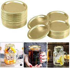 50Pcs  Mason Jar Canning Lids Stainless Steel Lids (Not Include Band)