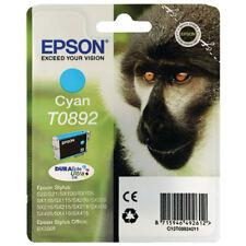 Genuine Epson T0892 Cyan Ink Cartridge To892 Monkey Ink Cyan Original 895 Blue
