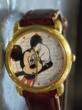 Womens Vintage Disney Lorus Mickey Mouse Watch (What Time Is It?)-VHTF-Brand New