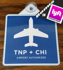 UBER LYFT HQ  REMOVABLE Chicago  AIRPORT Legal DECAL SIGN PLACARD  TNP + CHI