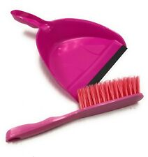 Cleaning Dust Pan And Brush Broom Set Mixed Assorted Colors