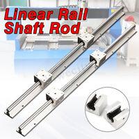 2pcs SBR12 600mm 12MM Support Linear Rail Shaft Rod + 4pcs SBR12UU Block CNC Set