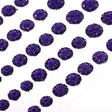 CraftbuddyUS CB70P 50 Self Adhesive Purple Crystal Rhinestone Moon Rock Gems Crd