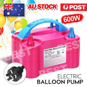 Electric Balloon Inflator Pump Two Nozzle High Power Air Blower Portable AU Plug