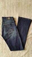 Rock & Republic Kasandra Boot Studded Jeans 2M Waist/28 Inseam/30 Rise/8