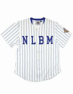 NEGRO LEAGUE BASEBALL JERSEY BLUE PIN STRIP NEGRO LEAGUE JERSEY