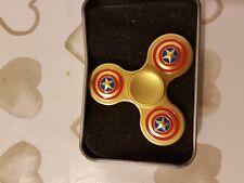 Fidget Spinner in metallo oro
