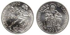 1000 LIRE 1991 OLIMPIADI 1992 SAN MARINO ARGENTO SILVER #778