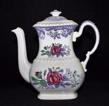 Copeland Spode MAYFLOWER Lavender w/Floral Center, 4 Cup Coffee Pot w/ Lid