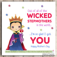 Pour vous stepmum with special Voeux Carte d/'anniversaire Happy Birthday Card Step Mum