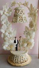 "Vintage 1931 Large Wedding Cake Topper Bride and Groom 11"" x 6"""