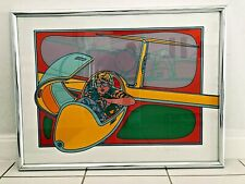 """Clayton Pond """"Sail Plane"""" Serigraph Hand Signed in pencil Edition200/300 Framed"""