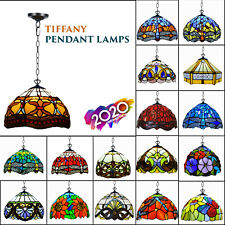 More details for tiffany pendent lamp 10 inch antique style hand crafted lamp bed living room
