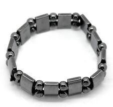 Magnetic Hematite Healing Elasticated Bracelet, Gunmetal, Mens or Ladies
