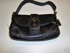 Coach Soho Leather Small Flap Black