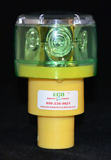 S6LRF 1NM GREEN LED SOLAR REVOLVING OR FLASHING LIGHT LIGHTHOUSE BARRICADE