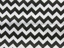 BLACK WHITE CHEVRON ZIG ZAG STRIPE LIGHTNING BOLTS SEW CRAFT DECOR FABRIC BTHY#