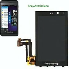 DISPLAY LCD+TOUCH SCREEN per BLACKBERRY Z10 3G 4G RIM+VETRO NERO FLAT FLEX