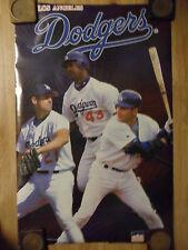 MLB Baseball Poster Three Superstars Los Angeles Dodgers