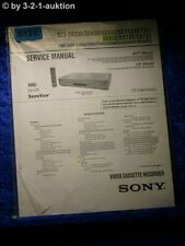 Sony Service Manual SLV SE230 SE430 SE630 SE730 SE737 SE830 SX730 SX737 (#5139)