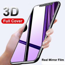9H 3D Mirror Full Cover Tempered Glass Film Screen Protector for iPhone X 8/Plus