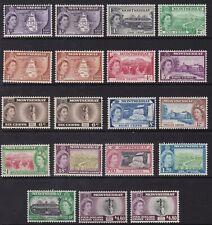 MONTSERRAT 1953-62 QE PICTORIAL SET, BOTH TYPES, FINE MINT , CAT £107