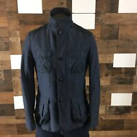 Armani Exchange Military Bomber Jacket Full Zip Up Button Up Men's Sz Small