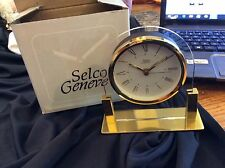 Selco Geneva alarm clock brass and acrylic nib