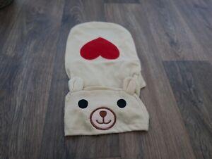 Cute Dog/ Cat Hoodie/ Jumper T-shirt With Cartoon Bear Hood-Large Beige