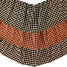 Checked Traditional King Queen Twin Bed Skirt