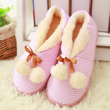Women Sweet Slippers Flower Indoor Bedroom Home House Winter Soft Cotton Shoes