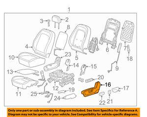 Chevrolet GM OEM 12-15 Captiva Sport Driver Seat-Outer Finish Panel 22760654