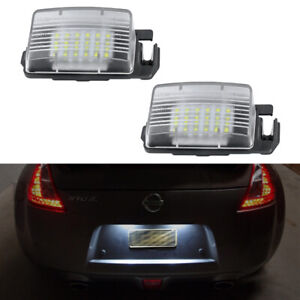 For Nissan Cube 350Z 370Z GTR Q60 Infiniti G25 G35 White LED License Plate Light