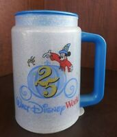 Vintage Walt Disney World Mickey 25th Anniversary Travel Mug Tinkerbell