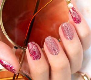 mani3LColorStreet FEELING MARBEL-OUS Nail Strips NEW Glitter Design **+TWOSIE**