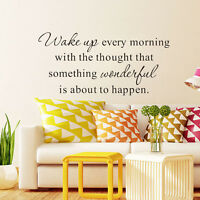 Removable DIY Vinyl Art Home Room Decor Quote Wall Decal Stickers Bedroom Mural