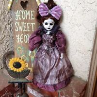 Victorian Mourning Lady OOAK art Creepy Gothic Doll Bastet Christie Creepydolls