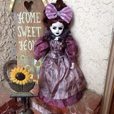 Victorian Mourning Lady with Bow Creepy Horror Doll Bastet Christie Creepydolls