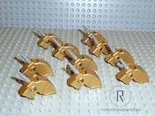 LEGO® 10 Pferde Kopfpanzer Kopfschutz Einhorn Helme metallic gold 89524 R898