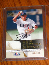 Tony Wolters Autographed 2009 USA Upper Deck UFWA-42 JERSEY Rookie Card - /899