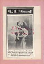 NESTLE, Werbung 1906, Nestle's Kindermehl Nahrung Kinder