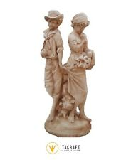 Statua Primo Amore da giardino in cemento bianco h90 MAGI-PRIMOAMORE-0315