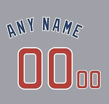 Baseball Chicago Cubs Road Gray Jersey Customized Number Kit un-stitched