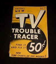 TV TROUBLE TRACER  Vol. 2 - H.G. Cisin - Vintage 1953 Telivision Repair