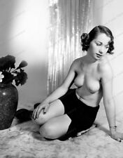 8x10 Print Sexy1950's Model Nude Pin Up Classic Style Garter Beauty #M4050