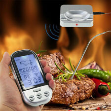 Digital LCD Probe Timer Meat Thermometer BBQ Grill Smoker Food Kitchen Cooking**