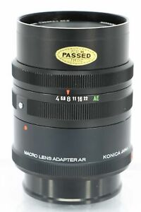 KONICA 105mm f/4 MACRO with Extension Tube - Professionally Tested