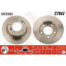 TRW 2x Bremsscheiben Voll lackiert schwarz DF2583