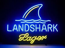 New Landshark Lager Real Glass Beer Bar Pub Store Decor Neon Light Signs 19x15