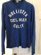 Men's Hollister Top Blue Long Sleeve Size Medium